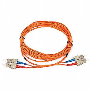 FIBER OPTIC PATCH CABLE, SC/SC, 5M