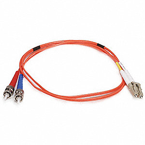 FIBER OPTIC PATCH CABLE, LC/ST, 1M