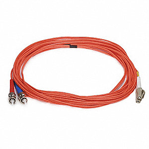 FIBER OPTIC PATCH CABLE, LC/ST, 5M