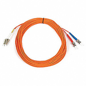 FIBER OPTIC PATCH CABLE, LC/ST, 10M