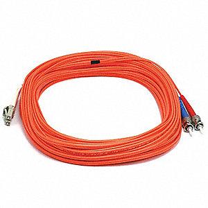 FIBER OPTIC PATCH CABLE, LC/ST, 20M
