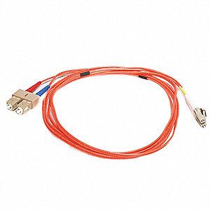 FIBER OPTIC PATCH CABLE, LC/SC, 2M