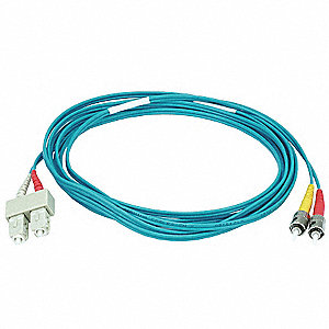Multi-Mode, Duplex, Fiber Optic Connector Type: ST/SC, 3m Length