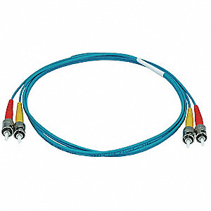 Multi-Mode, Duplex, Fiber Optic Connector Type: ST/ST, 1m Length