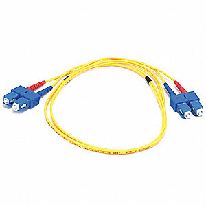 Single Mode, Duplex, Fiber Optic Connector Type: SC/SC, 1m Length