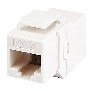 Datacom Jack,Cat5,Inline Coupler,White