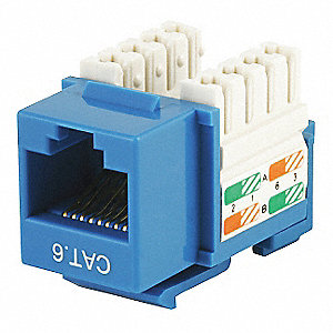 Keystone Jack, Blue, Plastic, Series: Standard, Cable Type: Category 6