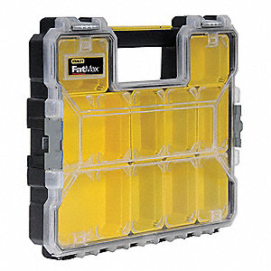 "Compartment Box, Black/Yellow, 2-7/8""H x 14""L x 17-3/8""W, 1EA"
