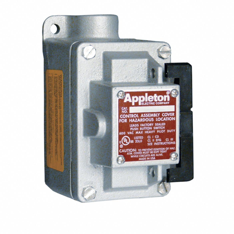 APPLETON ELECTRIC 4-Way 20 Amp Rocker Arm Tumbler Switch, 1\