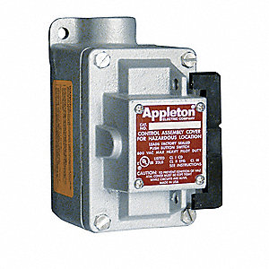 "1-Pole 20 Amp Front Operated Tumbler Switch, 3/4"" Dead-End Hub Style, EDS Series"