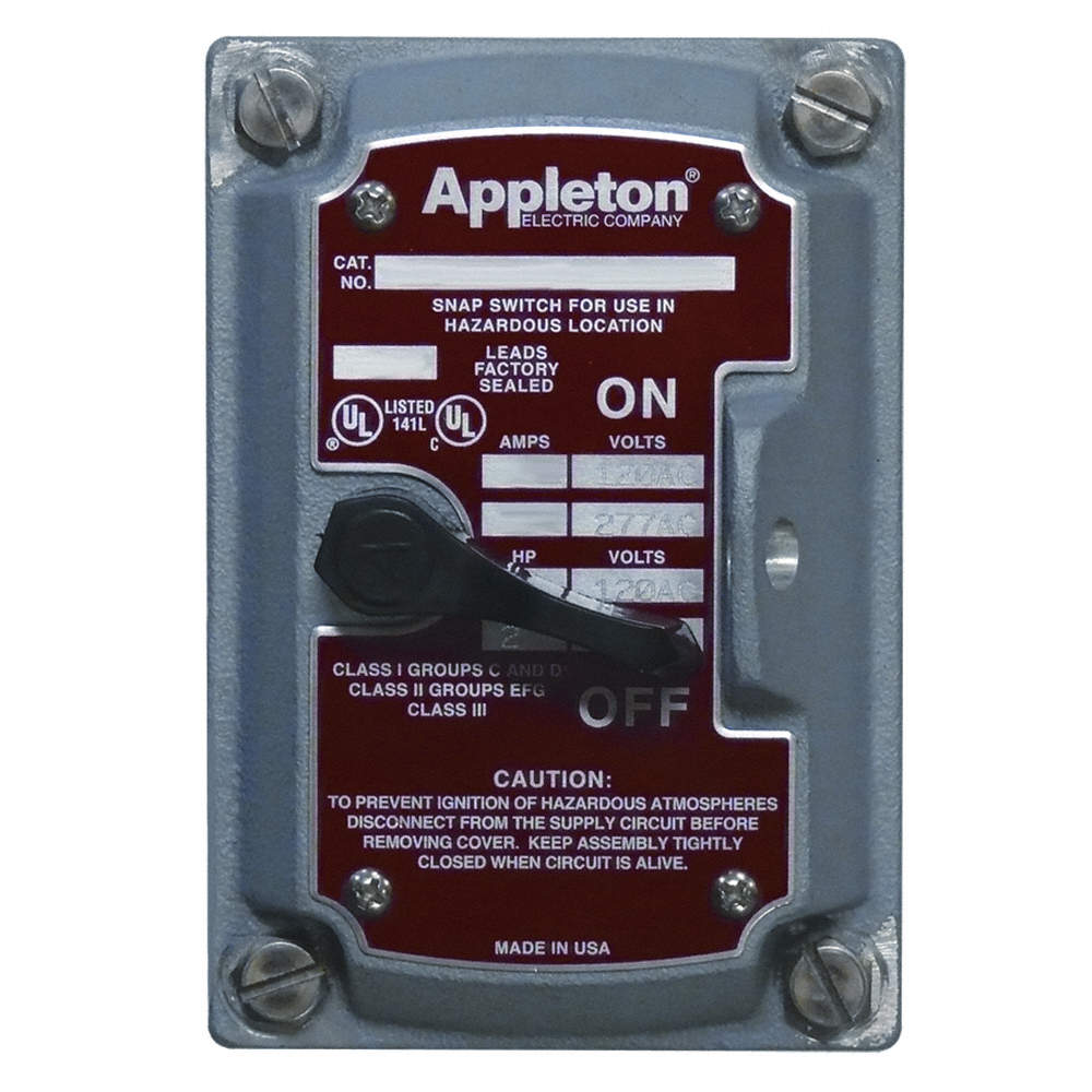 APPLETON ELECTRIC 3-Way and 4-Way Front Cover, 20 and 30 Amps, For ...