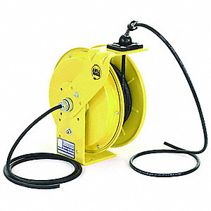 Cord Reel,25 ft,16/3,SO,Yellow,600VAC