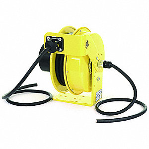 600VCA Heavy Industrial Retractable Cord Reel&#x3b; Number of Outlets: 0, Cord Included: Yes
