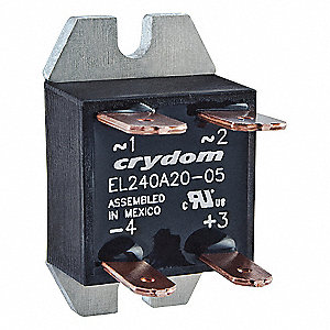 1-Pole Flange Mount Solid State Relay; Max. Output Amps w/Heat Sink: 10