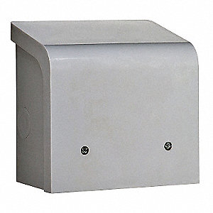 Power Inlet Box, Wall, UV Stabilized ABS, CS6375, Use with Transfer Switch All