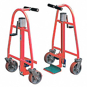 Machinery Mover Hand Truck, 1300 lb., Steel, Number of Rollers 4