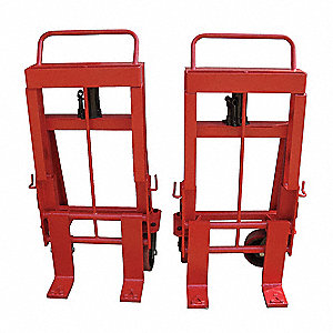 Machinery Mover Hand Truck, 6000 lb., Steel, Number of Rollers 4, 2 PK