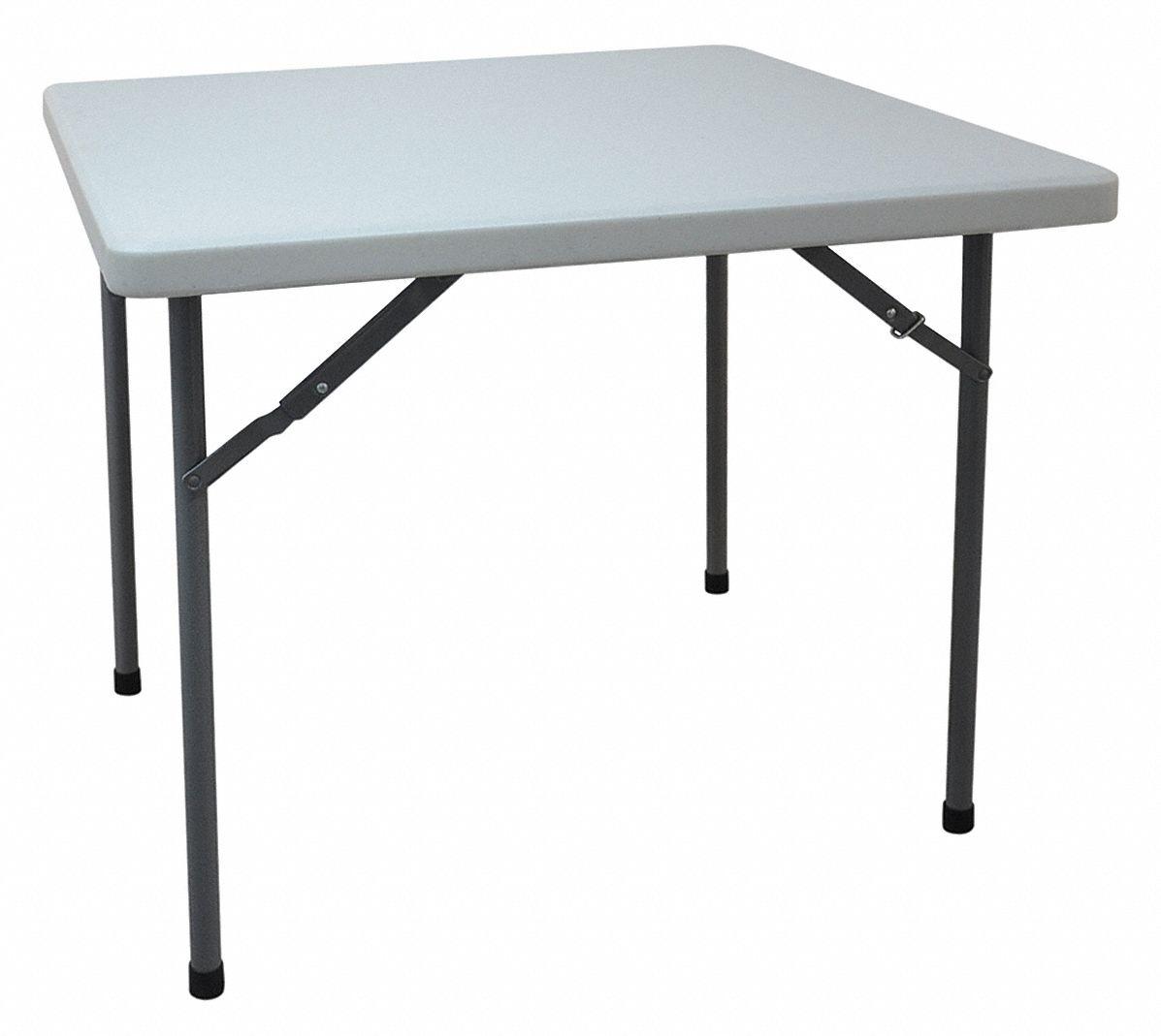 Grainger Approved Square Folding Table 29 In Height X 36 In Width White 13v430 13v430 Grainger