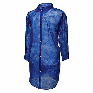 Blue Polypropylene Disposable Lab Coat, Size: 3XL