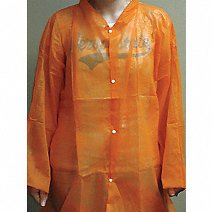 COAT LAB ORANGE POLY MED