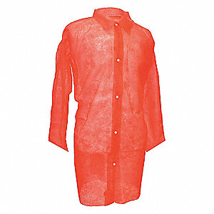 Red Polypropylene Disposable Lab Coat, Size: XL