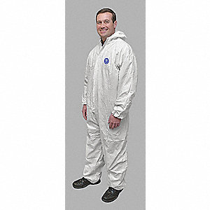Hooded Promax(R),White,Elastic,4XL,PK25