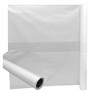175 gal. LLDPE Contractor Trash Bags, Cored Roll, Clear, 25PK