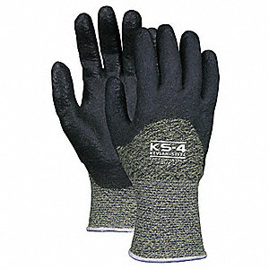 Cut Resistant Gloves,PVC,M,PR