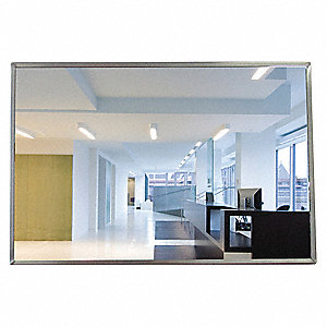 "Flat Mirror, Acrylic Lens Material, 24"" Width, 36"" Height"