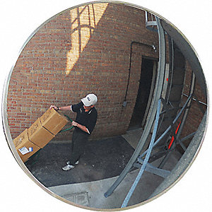"26""-dia. Circular Indoor/Outdoor Convex Mirror, Viewing Distance: 30 ft."