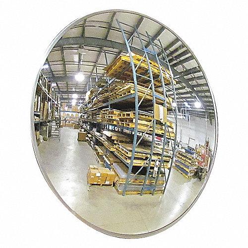 Grainger approved espejo convexo p int di 18pulg acr lico for Espejo esferico convexo