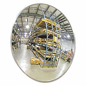Indoor/Outdoor Convex Mirror,18Dia,Glass
