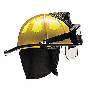 Fire Helmet,Yellow,Fiberglass