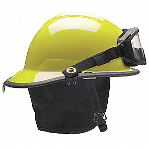 Fire Helmet,Lime-Yellow,Thermoplastic