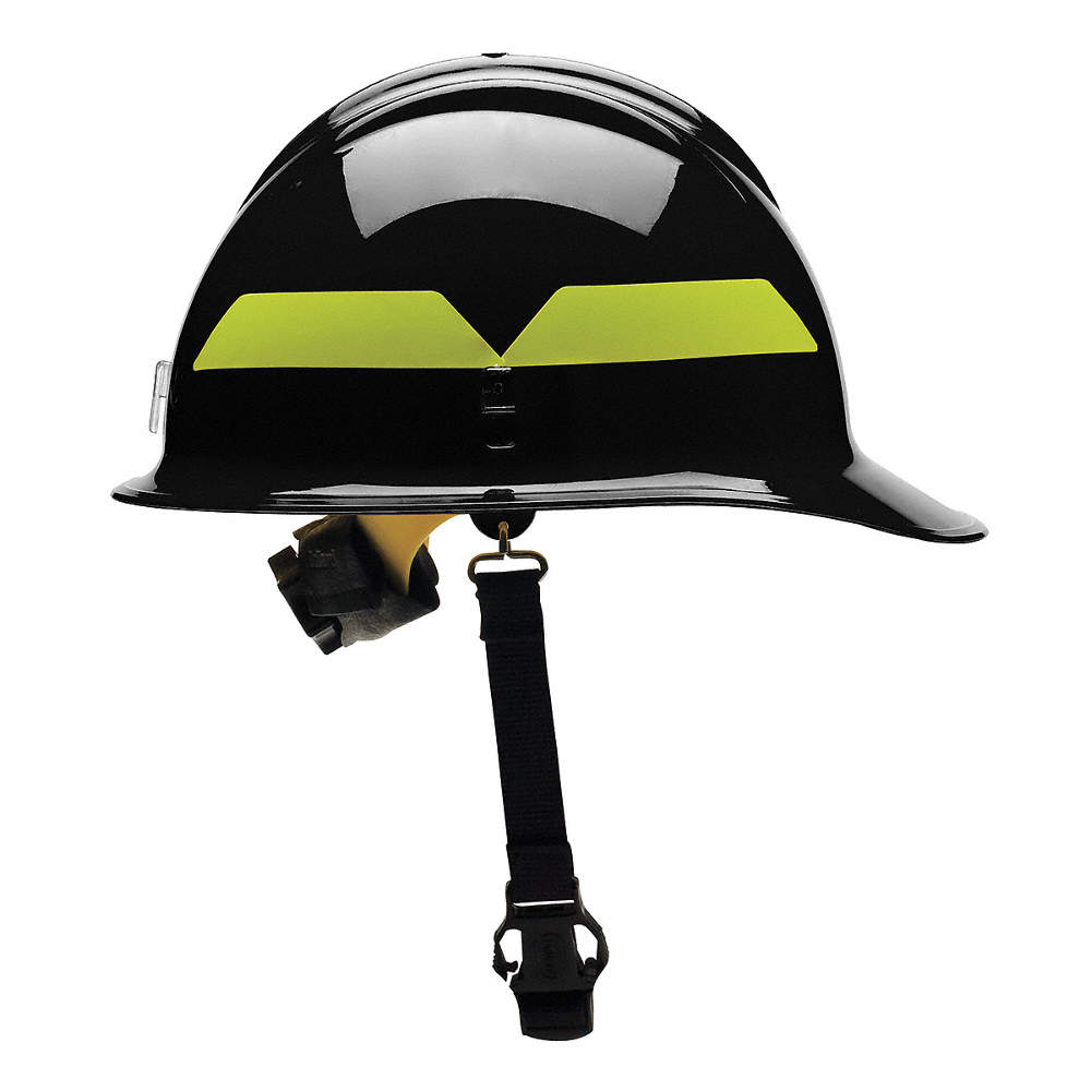Black Wildland Fire Helmet, Shell Material: Thermoplastic, 6-Point  Sure-Lock® Ratchet Suspension, Fi