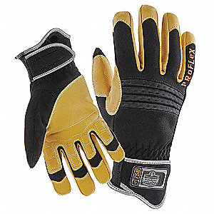 GLOVES PROFLEX CNSTRCTN BLK + TAN S