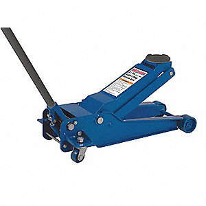 Heavy-Duty Steel Hydraulic Service Jack with Lifting Capacity of 3-1/2 tons