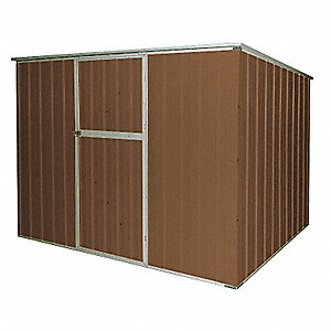 Storage Shed, Slope Roof, 6ft x 8ft, Brown