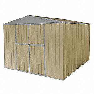 Storage Shed, A-Roof, 6ftx11ftx11ft, Beige