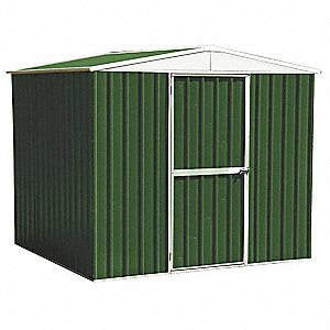 Storage Shed,A-Roof,6 ft x 8 ft,Green