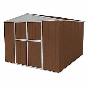 Storage Shed,A-Roof,6ftx11ftx8ft,Brown