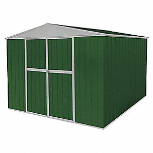 Storage Shed,A-Roof,6ftx11ftx11ft,Green