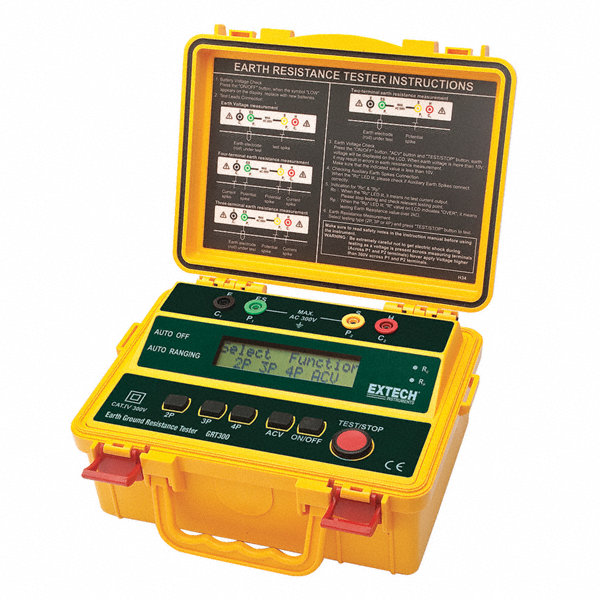 Extech Earth Resistance Tester : Extech earth ground tester hz to vac