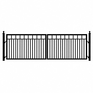 Double Sanibel Driveway Gate&#x3b; 6 Ft. Each Leaf