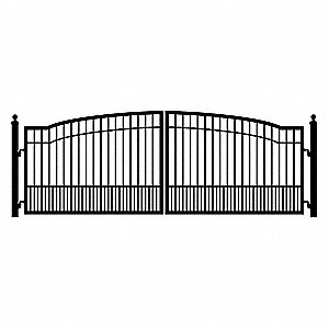Double Biscayne Driveway Gate&#x3b; 7 Ft. Each Leaf