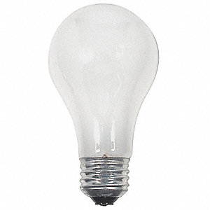Halogen Light Bulb,A19,53W,PK2