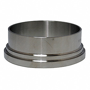 "T304 Stainless Steel Long Ferrule, Bevel Seat Connection Type, 3"" Tube Size"