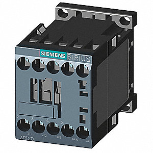 208VAC IEC Magnetic Contactor; No. of Poles 3, Reversing: No, 9 Full Load Amps-Inductive