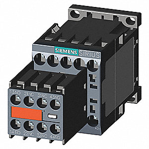 IEC Magnetic Contactor, 24VDC Coil Volts, 9 Full Load Amps-Inductive, 2NC/2NO Auxiliary Contact Form
