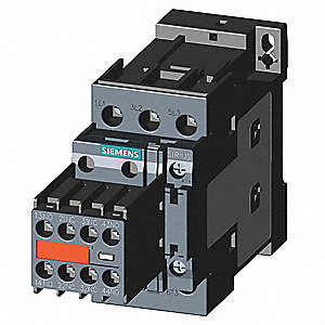 IEC Magnetic Contactor, 120VAC Coil Volts, 12 Full Load Amps-Inductive, 2NC/2NO Auxiliary Contact Fo